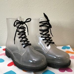 Yoki 10 Clear Combat Boots